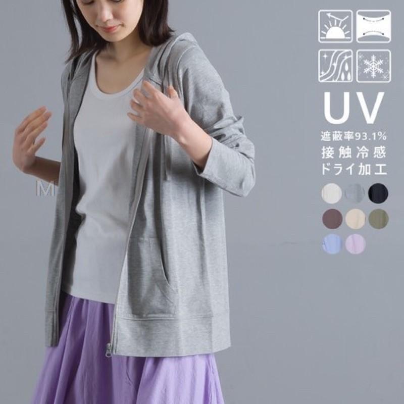 預購」夏季商品-日本直送🇯🇵 日本omnes 抗UV接觸涼感拉鍊帽外套
