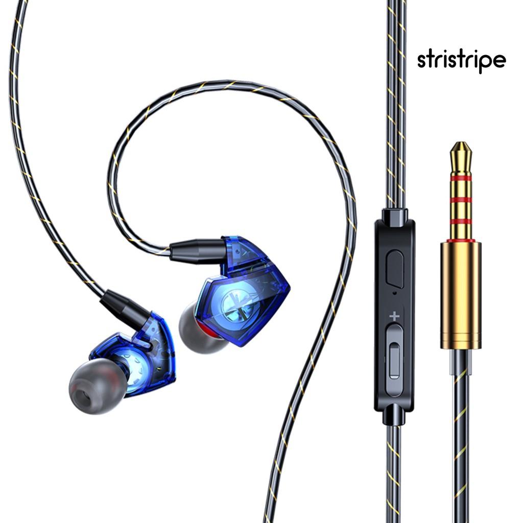 Str 3.5 毫米動態入耳式有線 Hifi 重低音運動耳機, 帶麥克風