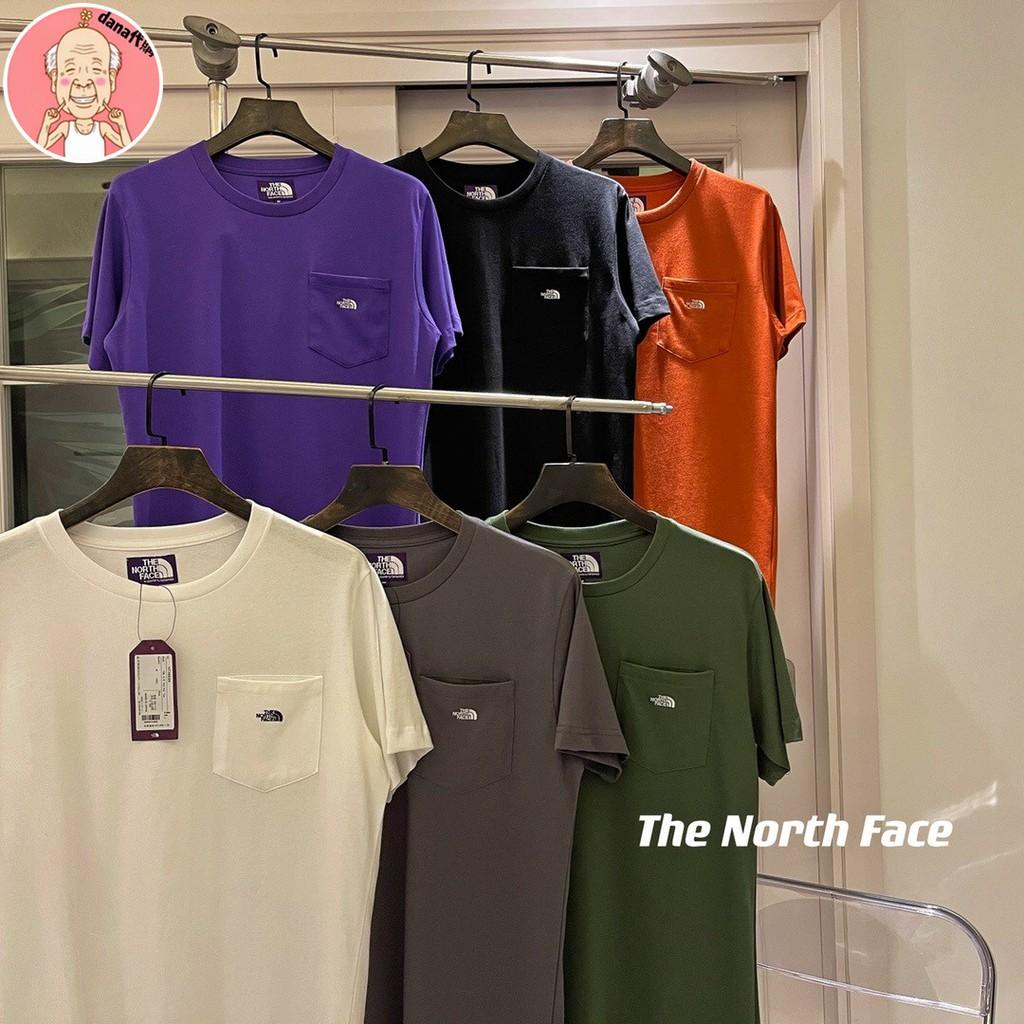 代購 The North Face北面TNf紫標口袋系列六色短袖Tee 男女款