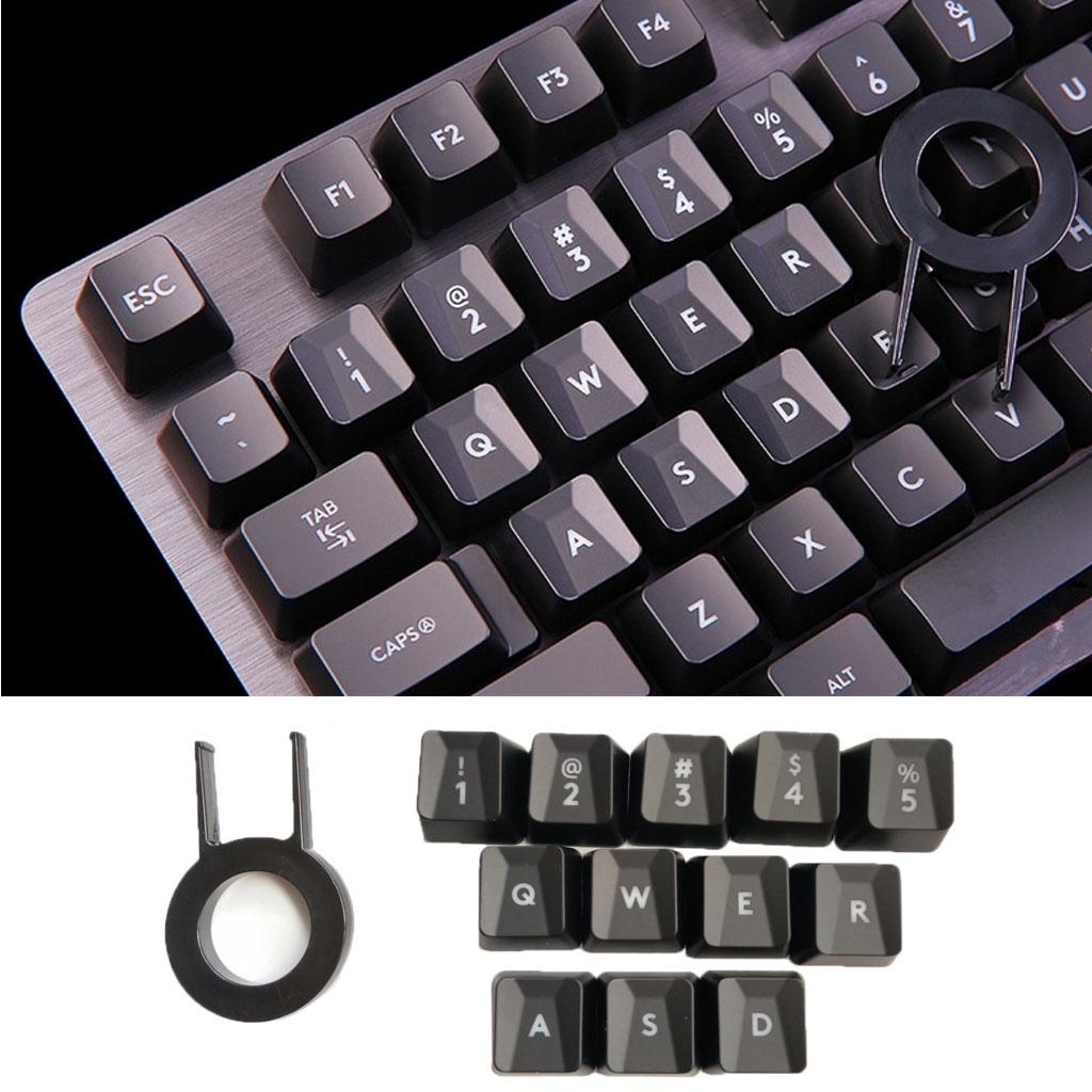 適用於羅技G413 G613 G910 G810 G810 G310背光鍵帽的Bang 12Pcs凹凸鍵盤鍵帽