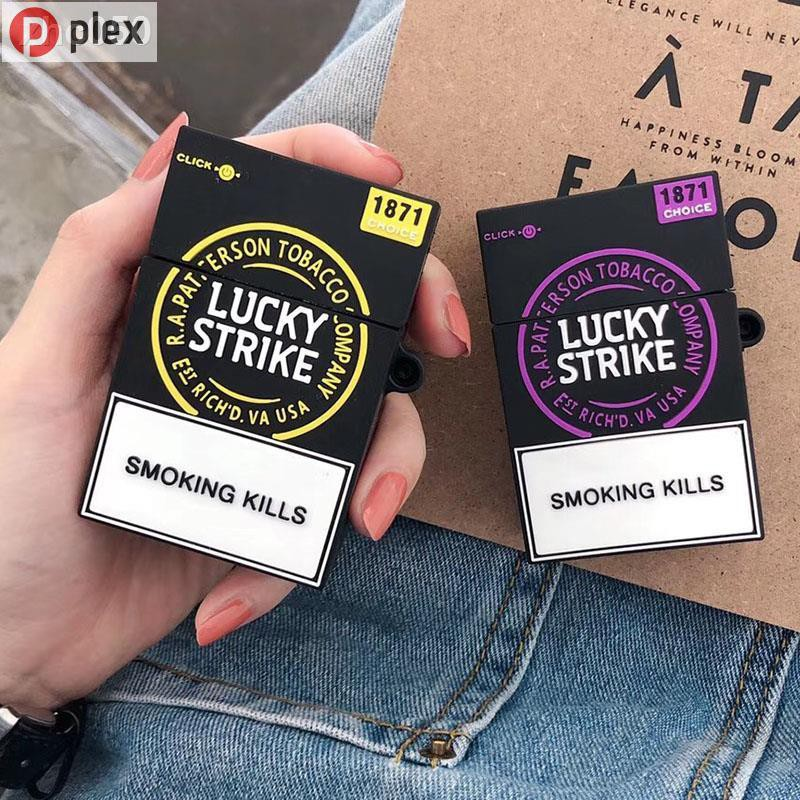【plex】ↂ№香煙盒適用airpods保護套蘋果耳機套airpods2防摔收納殼硅膠