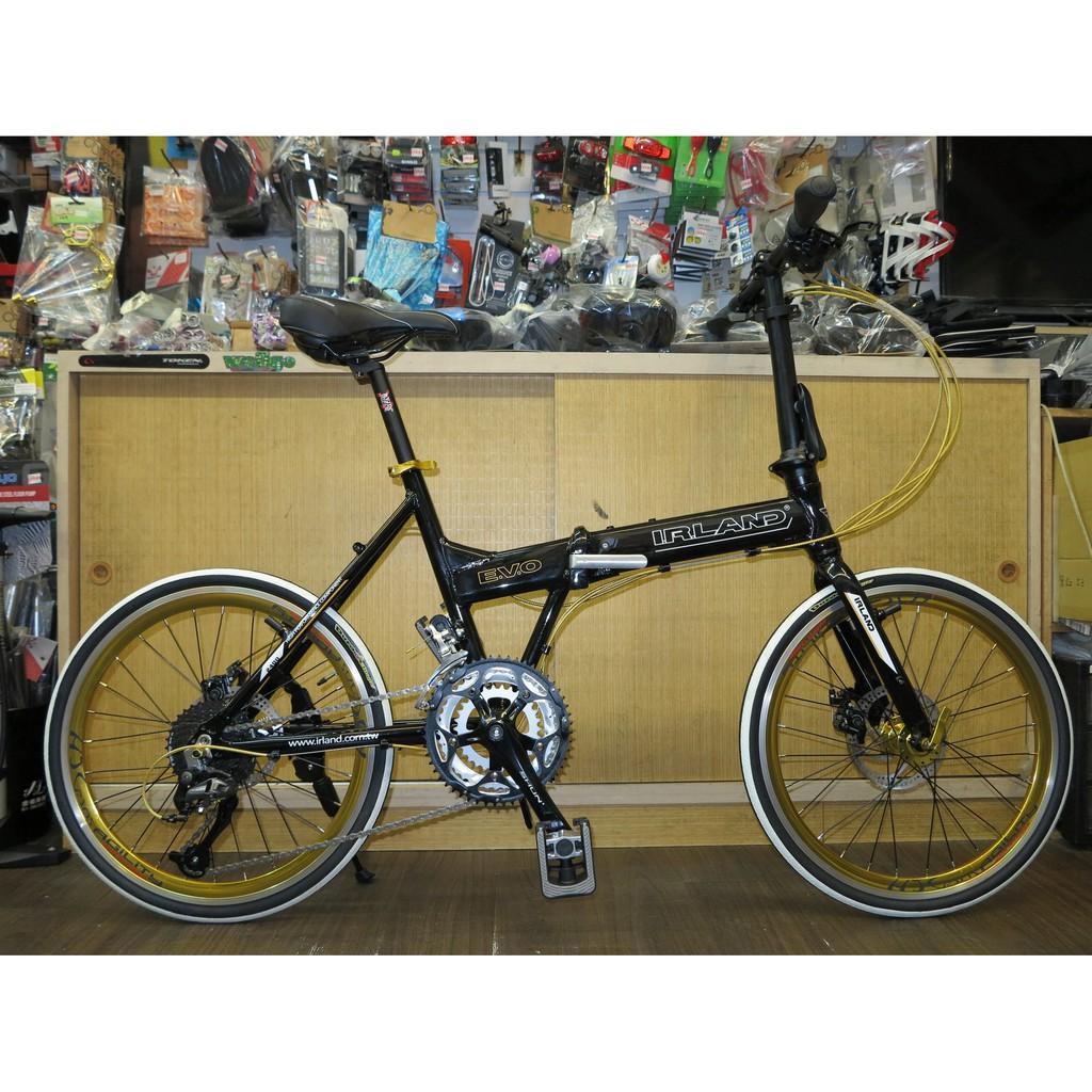 【冠鑫自行車】愛爾蘭 IRLAND EVO 20吋 451輪組 27速 機械碟煞 鋁合金 Shimano 摺疊車 黑色