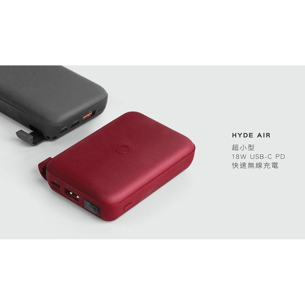 UNIQ HydeAir 10000mAh 無線快充帶支架螢幕行動電源/移動電源/外接電池/行動充-立
