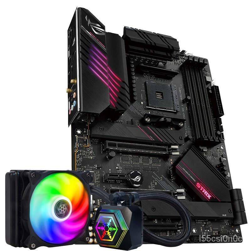 玩家國度(ROG)ROG STRIX B550-XE GAMING WIFI主板 (AMD B550/AM4)+銀欣 極