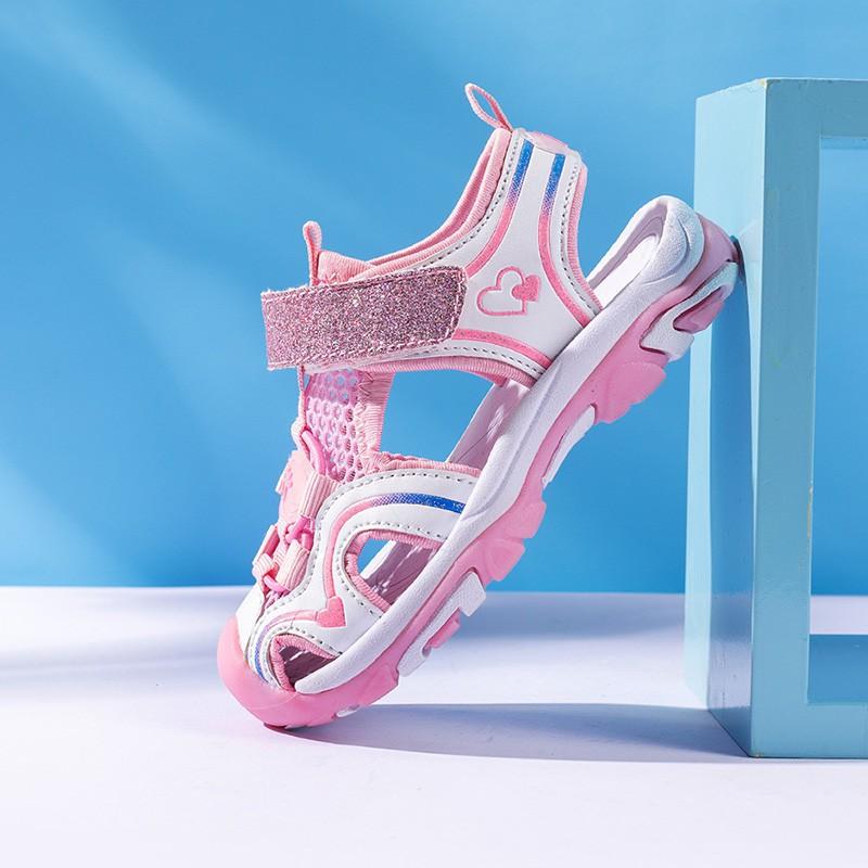 &全場秒殺&迪卡儂女童涼鞋2020新款韓版溯溪夏季兒童包頭中大童運動沙灘鞋鞋