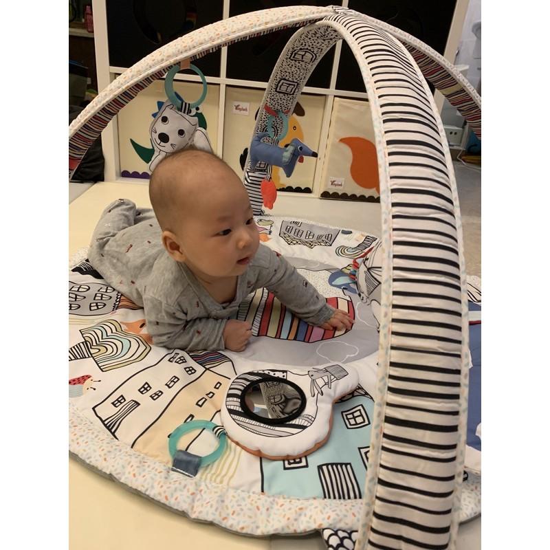 (二手)健力架 音樂鈴 Skip Hop寶寶五感玩具-活力聲光健力架遊戲墊 防疫宅家育兒必備 音樂 聲光