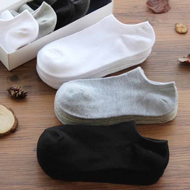 日系 薄款舒適棉短襪 休闲袜子 黑 白 灰 三大流行主色 男襪 船型襪 棉襪 短襪舒適 純色襪 透氣襪 隱形襪 短襪