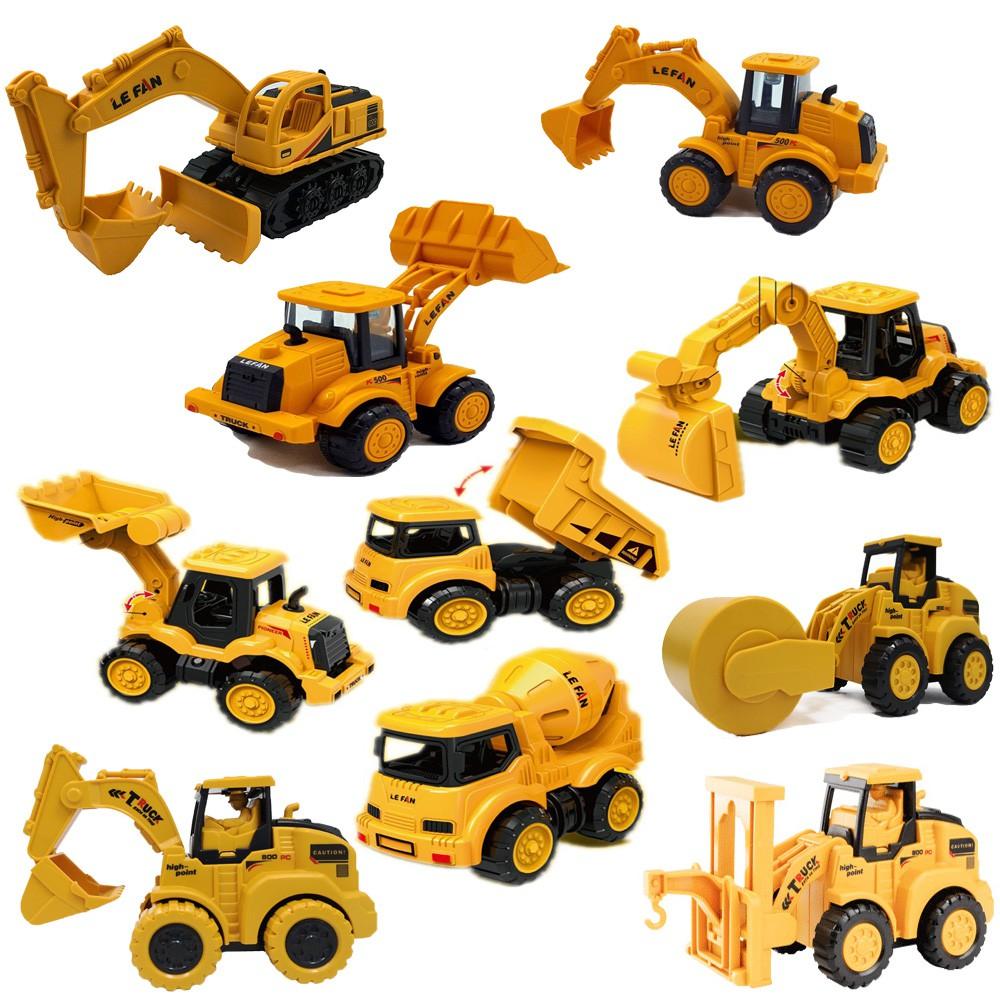 仿真工程玩具車 / 慣性車 模擬工程車 / 兒童 工程車玩具 挖土機 堆土機 挖掘機【國王皇后】
