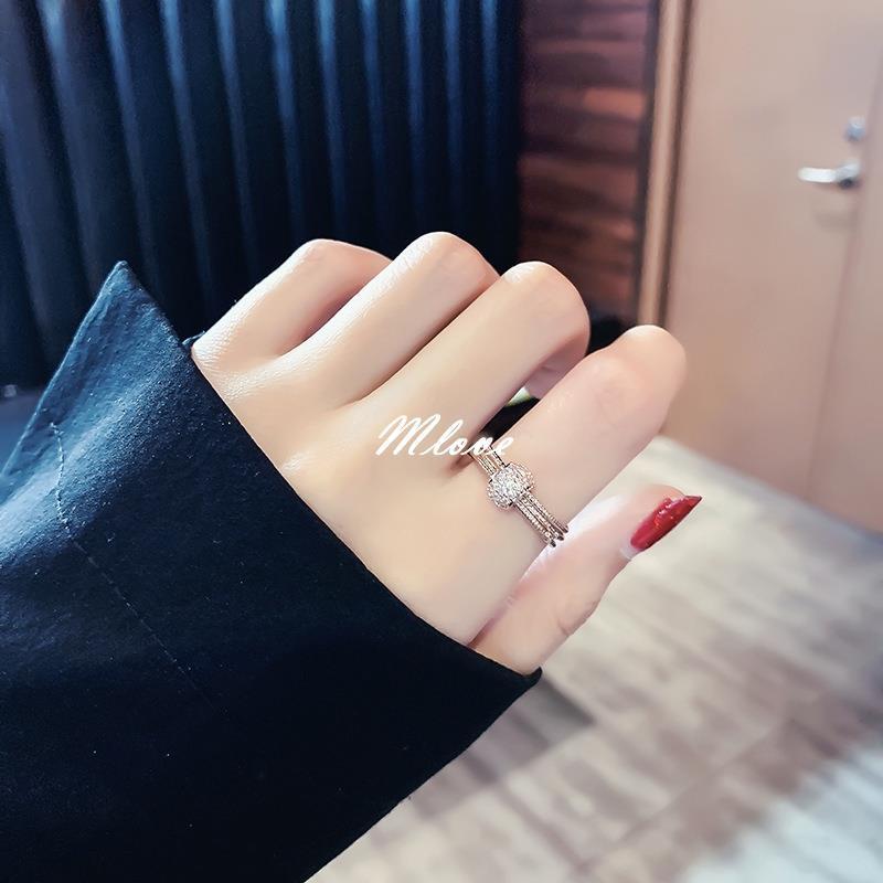 Young多層戒指 轉運球 尾戒 對戒 簡約食指指環