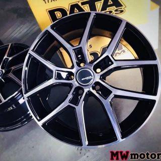 DATA 18吋5/ 108黑車面鋁圈~V40 V60 FOCUS MONDEO(起標價非商品實際售價 請洽詢)