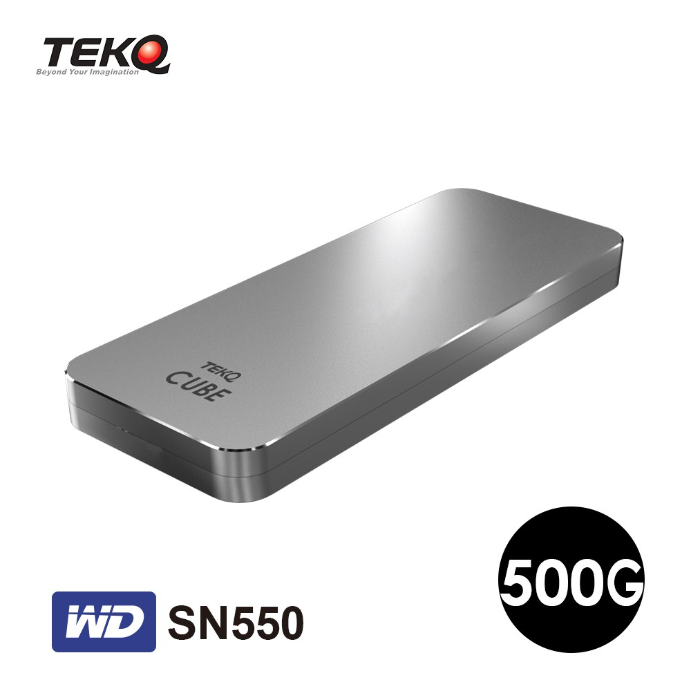 TEKQ CUBE WD SN550 500G Thunderbolt 3 M.2 外接式 SSD 行動硬碟