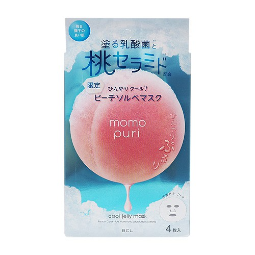 BCL 彈潤蜜桃沁涼面膜(4枚入)【小三美日】D089117