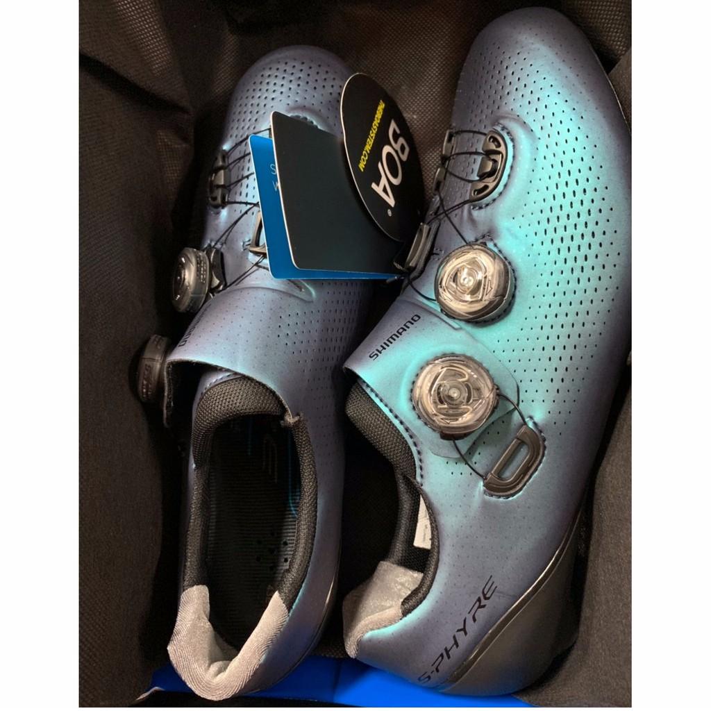 『時尚單車』shimano SH-RC901 限量版 極光色 車鞋 RC9 寛楦42號