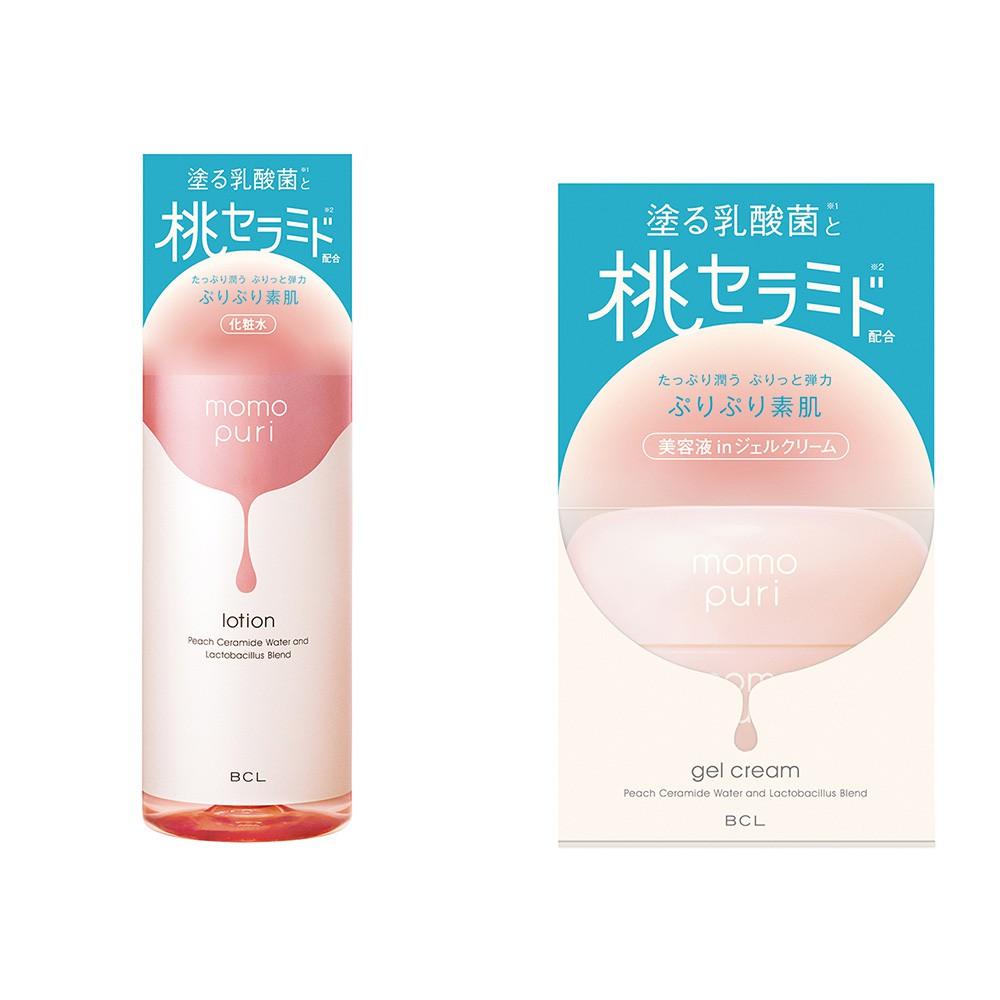 BCL 彈潤蜜桃保濕凝乳80g / 彈潤蜜桃保濕化妝水200ml