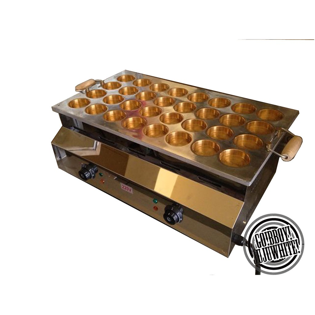 商用電力式32孔紅豆餅機6.8CM