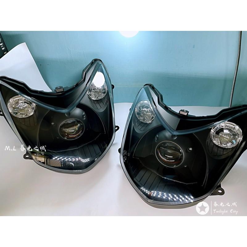 勁戰二代 黯黑基本款led魚眼大燈非HID魚眼勁戰大燈