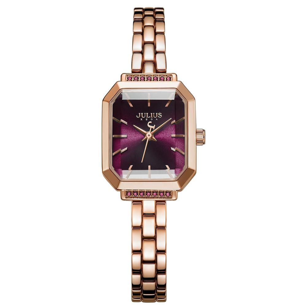 JULIUS 聚利時 巴黎戀人 復古方形 鍊帶 手錶 (20X17mm)五色