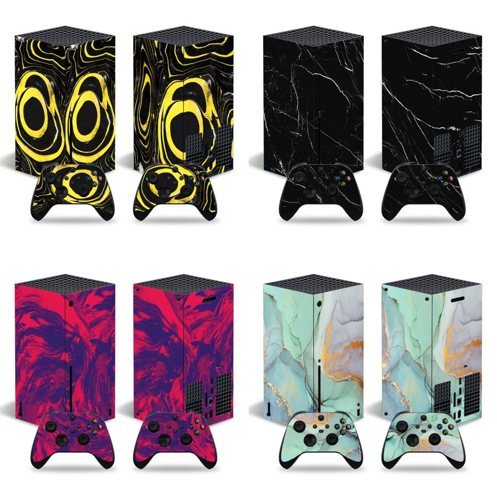 微軟XBOX series X主機貼膜XBOX series X主機貼紙大理石款式貼紙