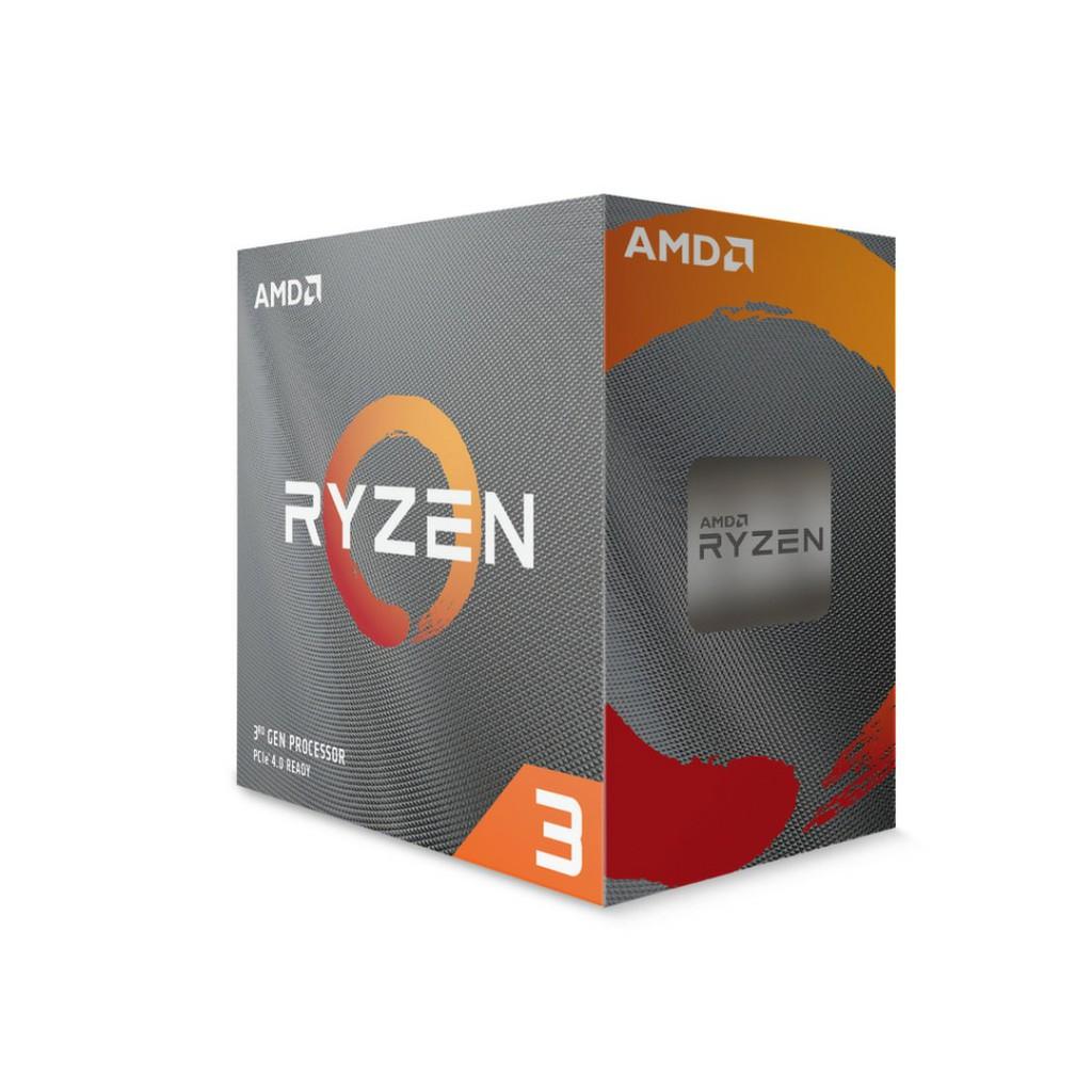 全新盒裝 AMD Ryzen 3 3100 3300X 4C8T AM4 65W 三年保 含風扇