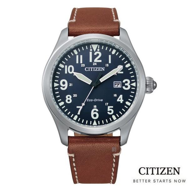 CITIZEN 星辰 光動能飛行 手錶 BM6838-33L 藍