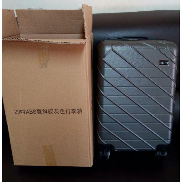 REBACCA 20吋ABS寬斜紋灰色行李箱