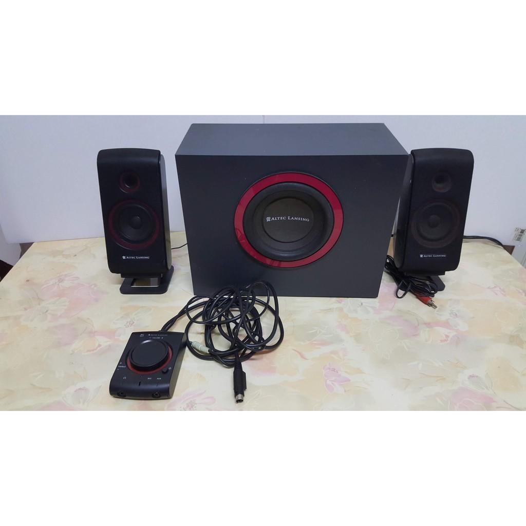 有雜訊需自行修理  美國奧特藍星 ALTEC LANSING VS2421 2.1聲道音響 喇叭 重低音