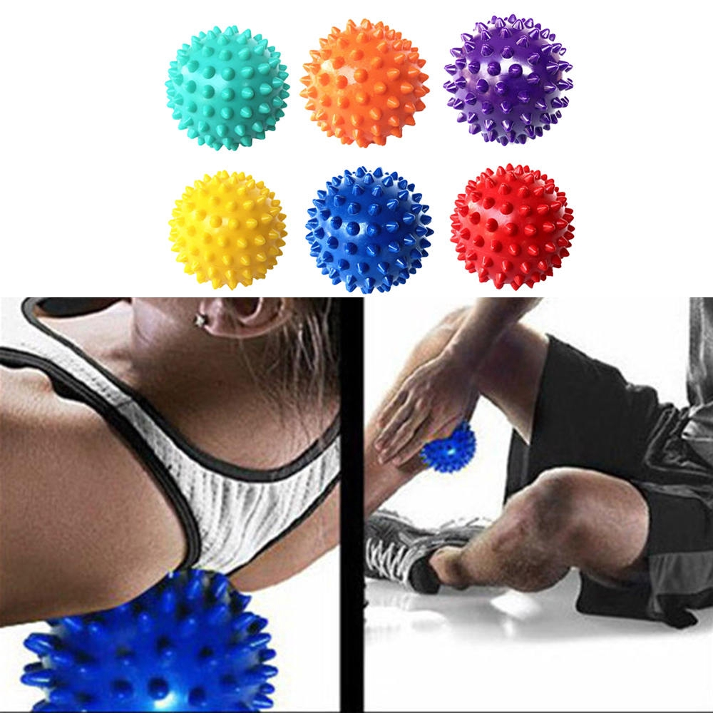 6Pcs尖刺按摩球觸發點手腳疼痛緩解肌肉放鬆球
