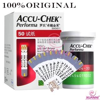 100% Accu-Chek Performa 試紙 50 年代。有效期 11 /  2020