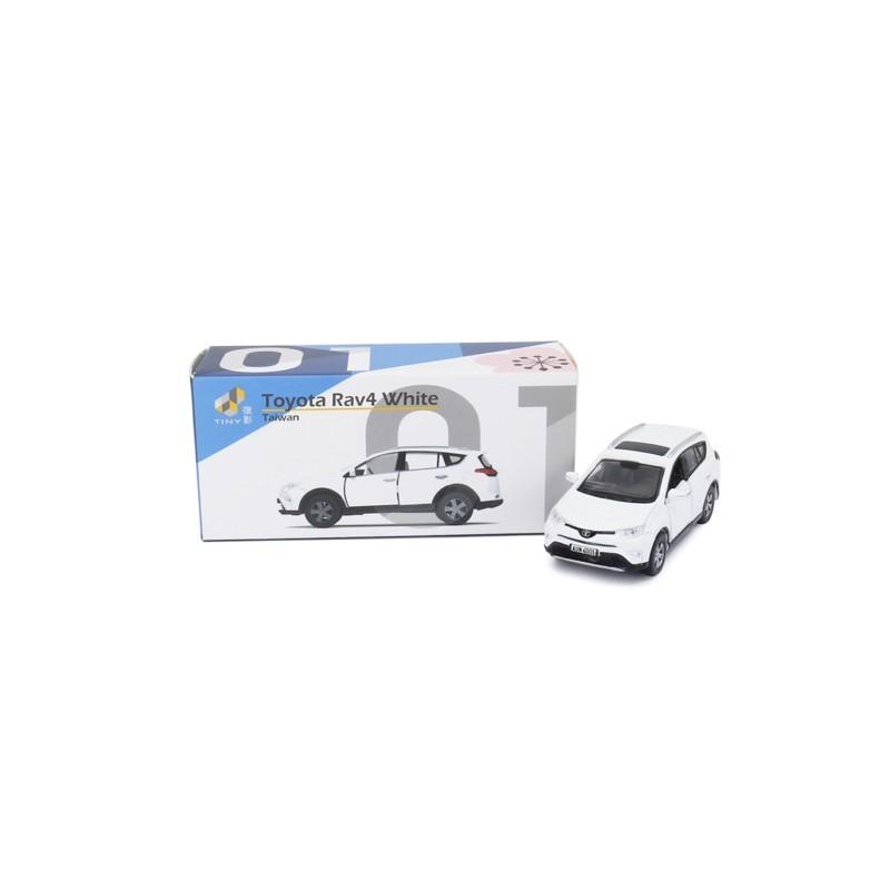 現貨 老周微影 Tiny 台灣款 左駕 TW01 豐田 Toyota Rav4 白色 合金模型車 Tomica 多美