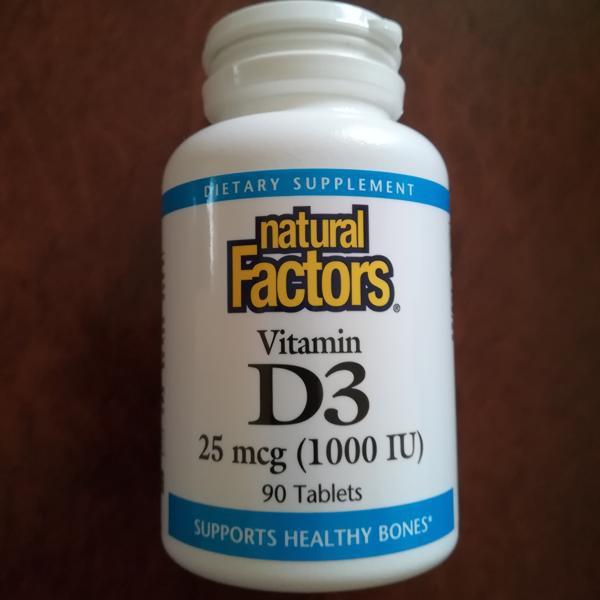 😃維生素D3 維他命D3🍁加拿大 優沛康 Natural factors 120錠劑 D3鈣質吸收 骨骼健康