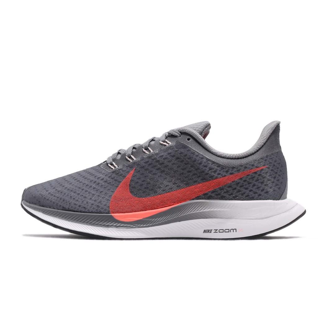 Nike 慢跑鞋 Zoom Pegasus 35 Turbo 灰 橘 女鞋 避震 AJ4115-005 【ACS】