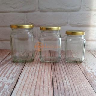 【Daylight】現貨-玻璃瓶方罐200cc/ 300cc/ 350cc含蓋 醬料玻璃罐/ 果醬瓶/ 密封罐/ 辣椒罐/ 玻璃罐 台中市