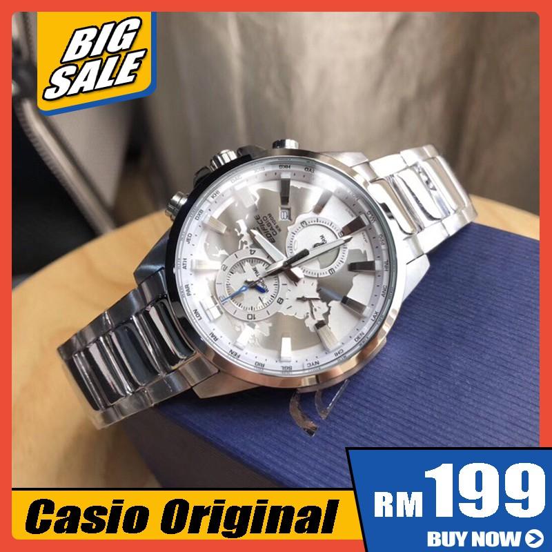 100%原裝卡西歐大廈EFR303模擬計時男士手錶商務手錶EFR-303D-1A實拍