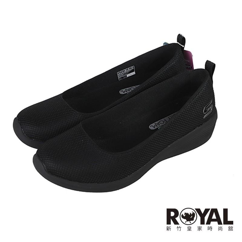 Skechers DAILY  可機洗 黑色 網布 娃娃鞋 女款NO.J0763【新竹皇家 104114BBK】
