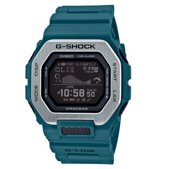 【天龜 】CASIO G SHOCK 藍牙雙重材質錶圈衝浪運動 GBX-100-2