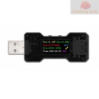 FNB18 USB測試儀電壓電流容量電量計時表電源測試檢測儀指示燈USB3.0彩屏多功能安全檢測儀
