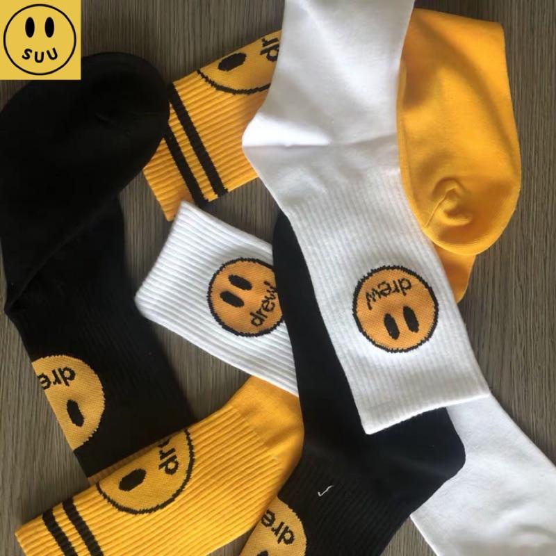 [Suu代購]Drew house笑臉襪子男女運動襪情侶襪長襪