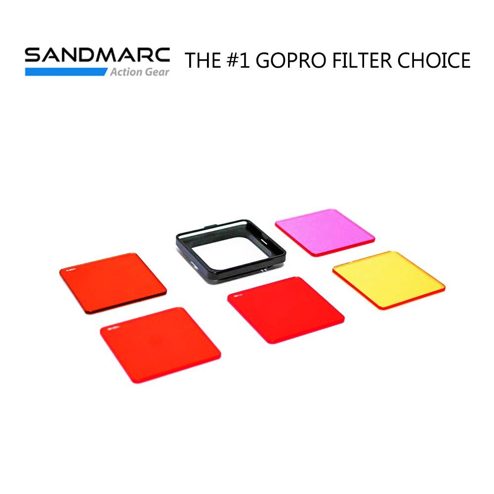 SANDMARC GoPro(Hero5/Hero6/Hero7原廠防水殼適用) 水中濾鏡套組 5片裝