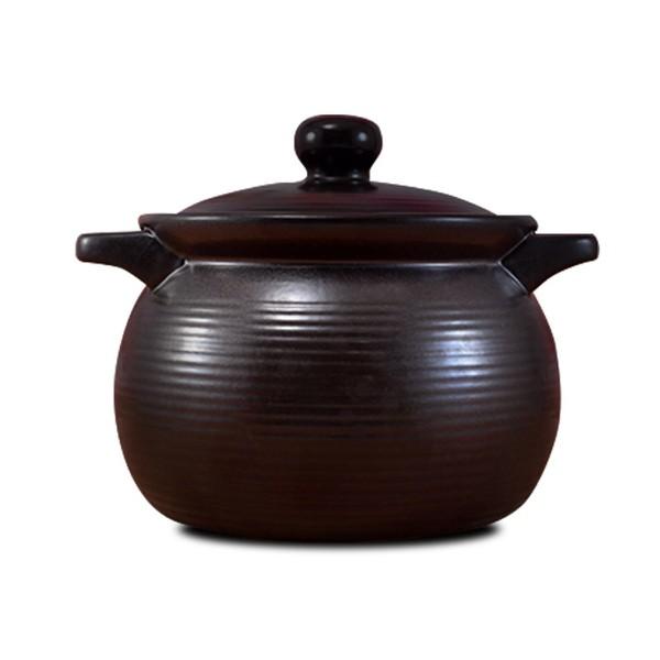 【堯峰陶瓷】鶯歌製造 7號深鍋 嚴選滷味黑鍋 陶鍋 燉鍋 (3~4人份)超耐用