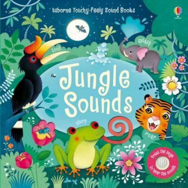 現貨Usborne Jungle Sounds硬頁音效書