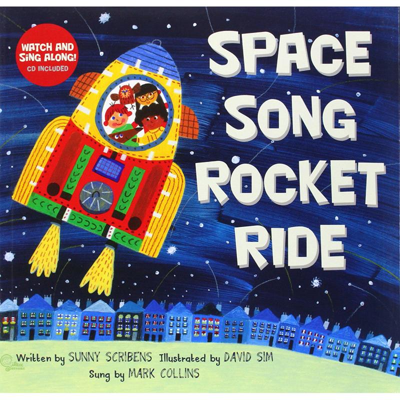 Space Song Rocket Ride (1平裝+1影音CD)【禮筑外文書店】(有聲書)[75折]
