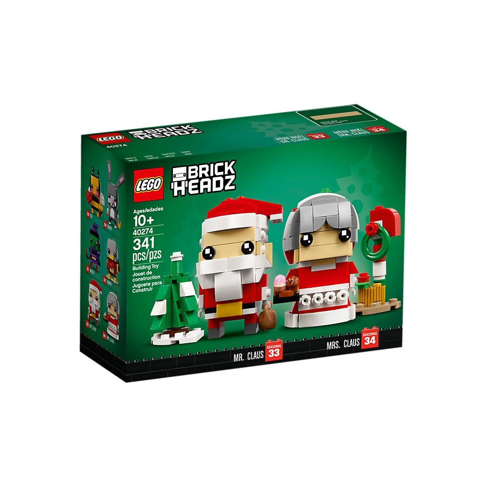必買站 LEGO 40274 聖誕老公公&老婆婆 樂高大頭系列