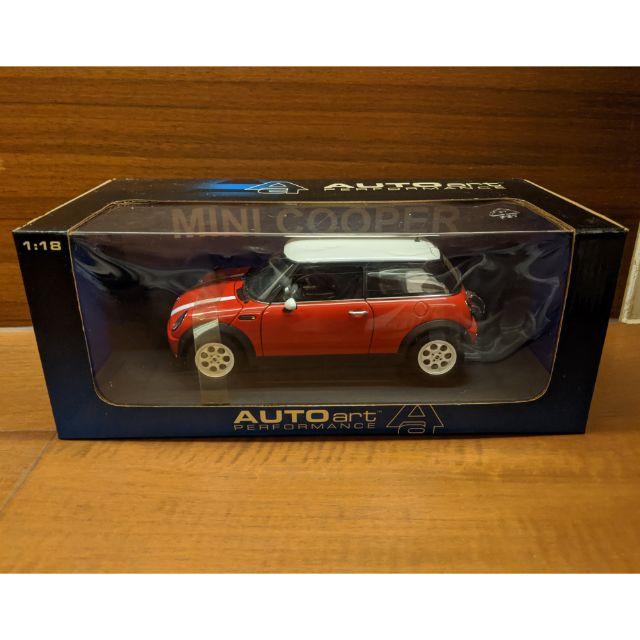 Mini Cooper 1:18 模型車 紅色 AUTOart