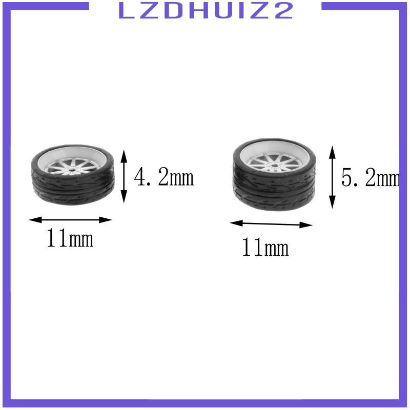 Les Fleurs  1:64比例壓鑄賽車模型車輪和輪胎組配件風格A