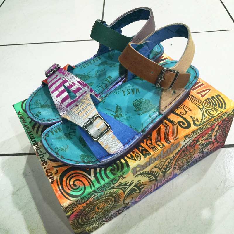 [二手再降價]麥坎納 macanna 可愛雙色涼鞋