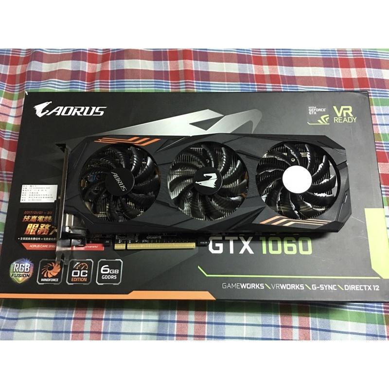 技嘉 GIGABYTE AORUS GTX1060 6G GV-N1060AORUS 6GD 不議價