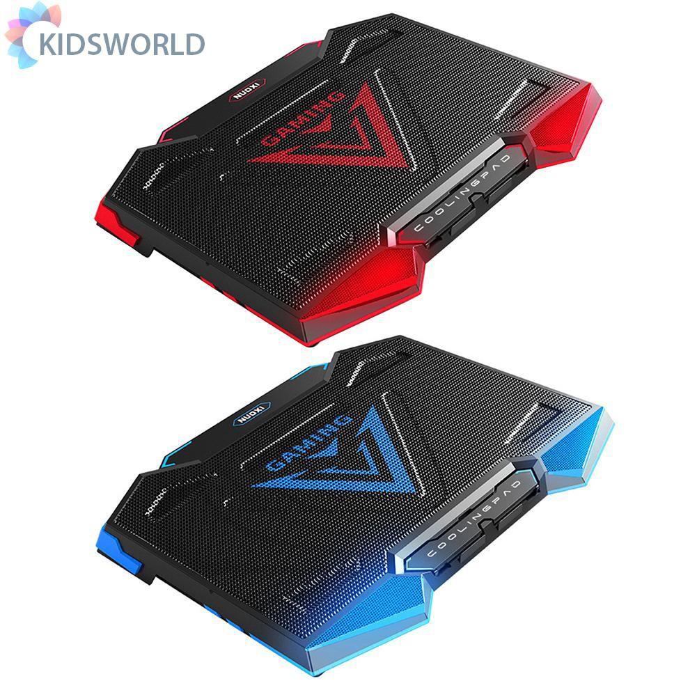 Kidsworld NUOXI Mute 5 散熱風扇雙 USB 筆記本散熱器, 適用於 12-17 英寸筆記本電腦