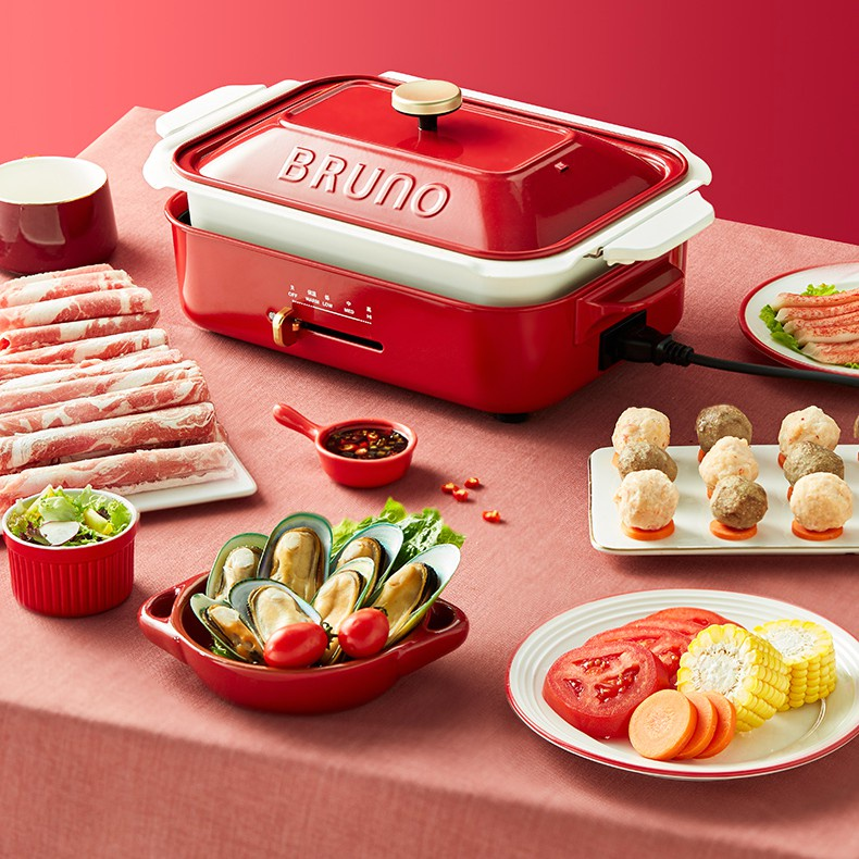 原廠公司現貨日本BRUNO BOE021 可用於 富力森 萊恩 綠恩 陶瓷深鍋 料理深鍋 Bruno鴛鴦鍋 多功能電烤爐
