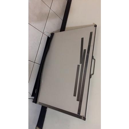 二手)尺斷掉 設計 製圖桌 製圖板 // 攜帶式製圖板+便利畫架 A1