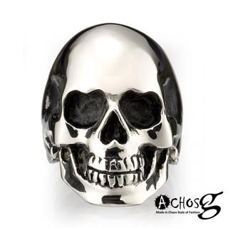ACHOS【Skulls水晶骷髏A】潮流西德鋼戒 台北市